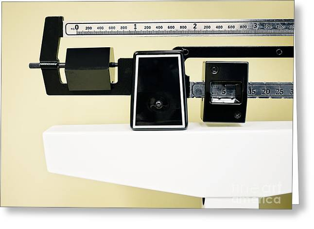 Physician Balance Beam Scale Picture Greeting Card by Paul Velgos