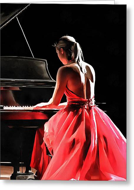 Pianist Greeting Card
