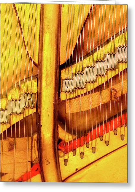 Piano 1 Greeting Card by Rebecca Cozart