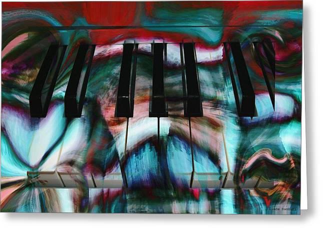 Piano Colors Greeting Card by Linda Sannuti