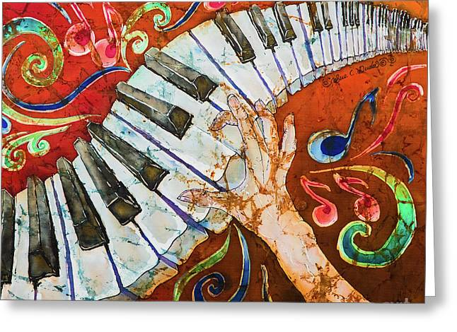 Piano Crazy Fingers - Special 3  Greeting Card by Sue Duda