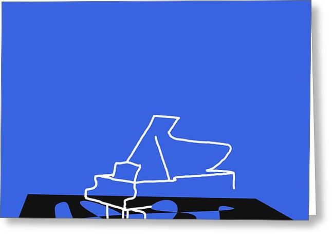 Piano In Blue Greeting Card