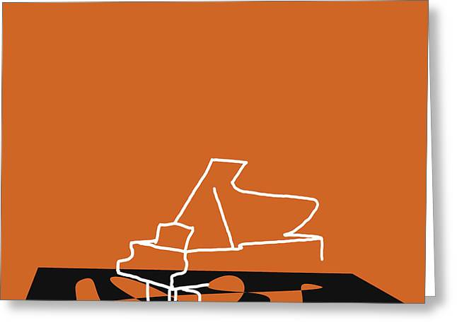 Piano In Orange Greeting Card
