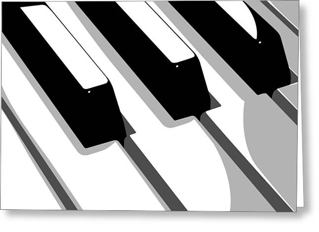 Piano Keyboard Greeting Card by Michael Tompsett