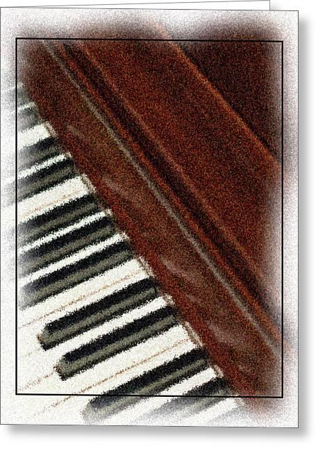 Piano Keys Greeting Card by Carolyn Marshall