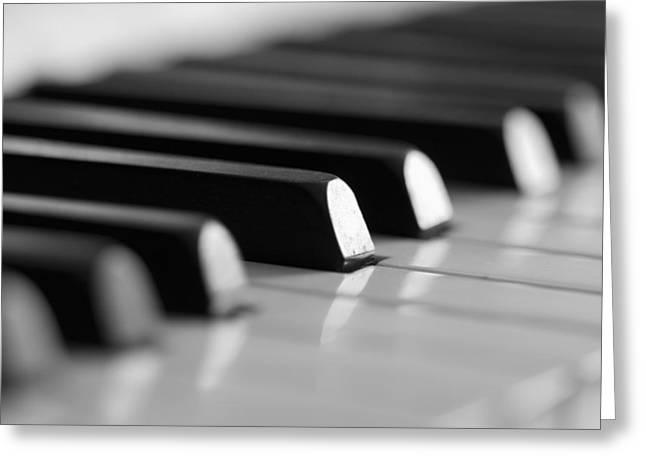 Software Greeting Cards - Piano keys Greeting Card by Falko Follert