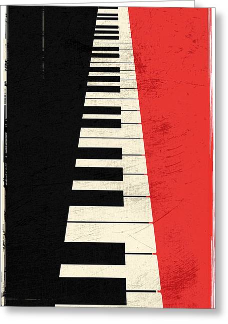 Piano Keys Greeting Card