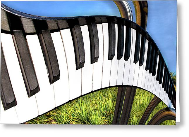 Greeting Card featuring the photograph Piano Land by Paul Wear