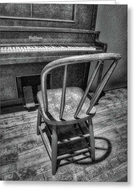 Piano - Music Greeting Card by Nikolyn McDonald