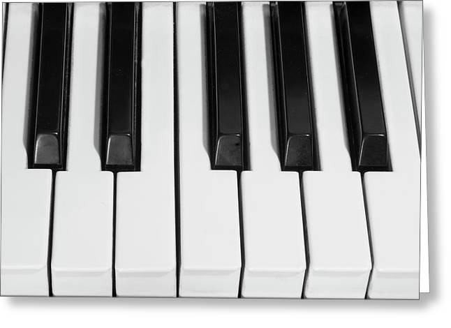 Bw Canvas Art Greeting Cards - Piano Octave  BW Greeting Card by James BO  Insogna