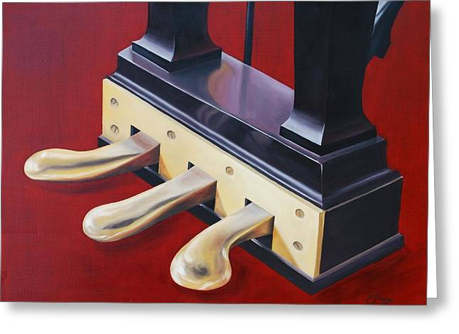 Piano Pedals Greeting Card