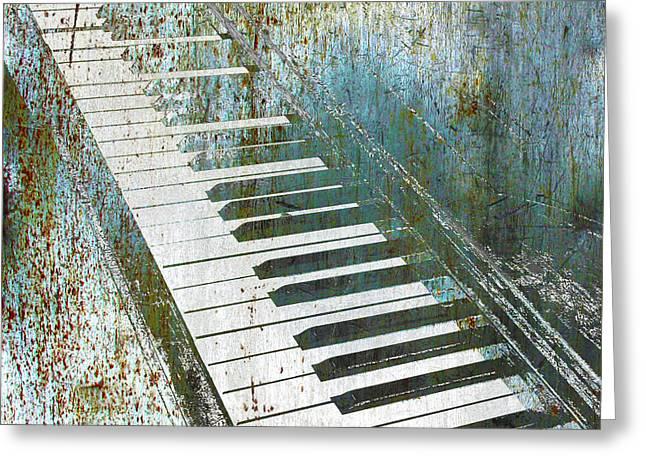 Piano Piano Greeting Card by Tony Rubino