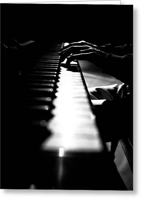 Piano Player Greeting Card by Scott Sawyer