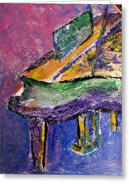 Piano Purple - Cropped Greeting Card