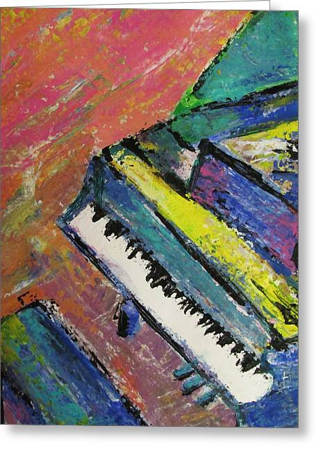 Piano With Yellow Greeting Card