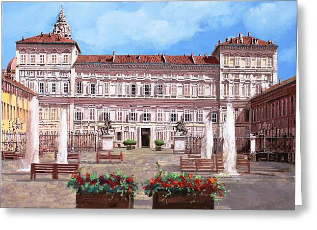 piazza Castello Greeting Card by Guido Borelli