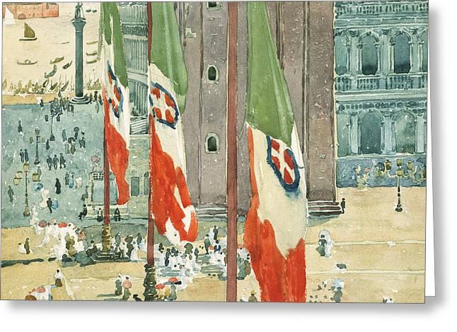 Piazza Di San Marco Greeting Card