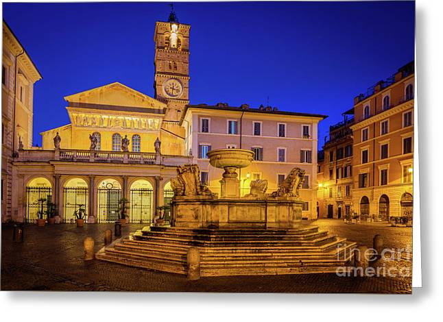 Piazza Di Santa Maria Greeting Card by Inge Johnsson
