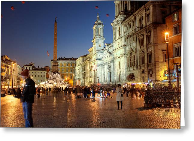 Piazza Navona Rome 1 Greeting Card