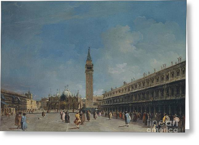 Piazza San Marco, 1760 Greeting Card