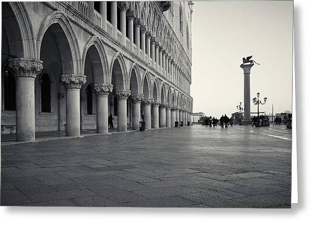 Greeting Card featuring the photograph Piazza San Marco, Venice, Italy by Richard Goodrich