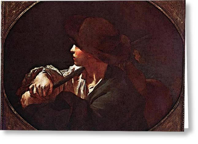Piazzetta Giovanni Battista Shepherd Boy Greeting Card by Giovanni Battista Piazzetta Approx