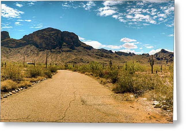 Picacho Peak State Park Panorama Greeting Card