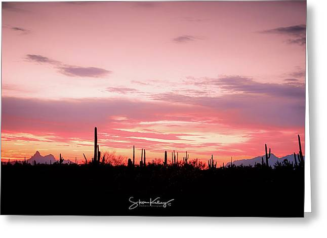 Picacho Sunset Greeting Card