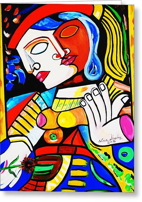 Picasso By Nora Turkish Man Greeting Card