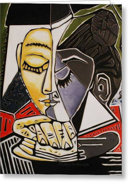 Picasso By Varvara Greeting Card by Varvara Stylidou