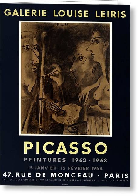 Picasso Exhibition Poster 9 Greeting Card by Andrew Fare