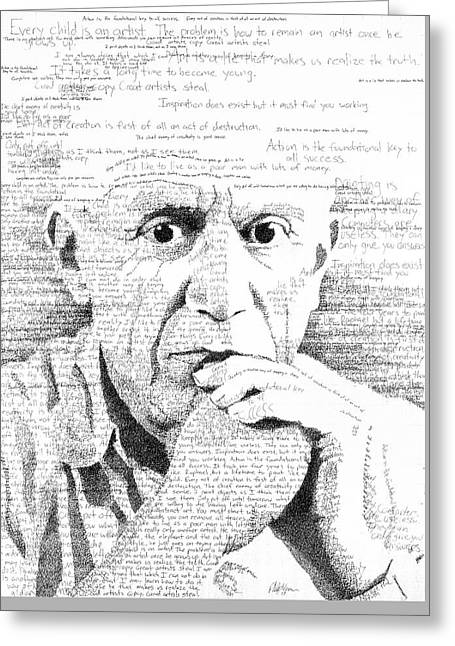 Picasso In His Own Words Greeting Card