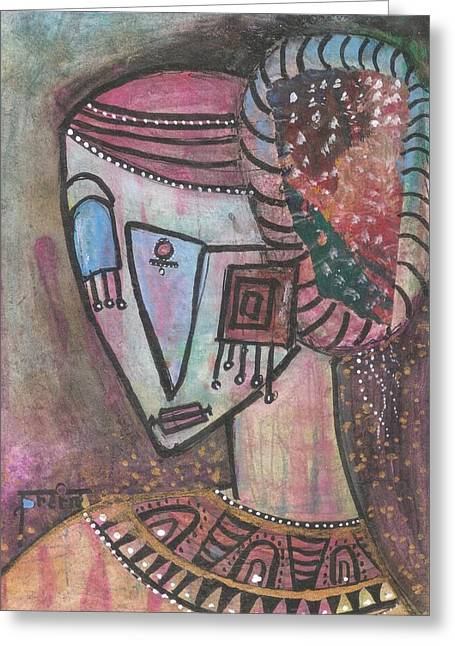 Greeting Card featuring the mixed media Picasso Inspired by Prerna Poojara