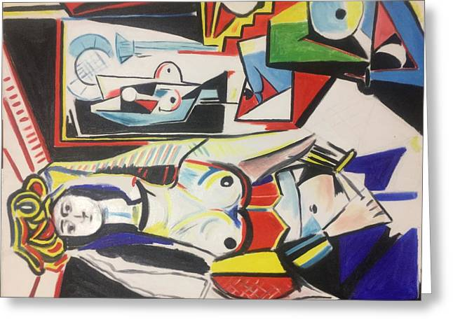 Picasso Reproduction  Greeting Card