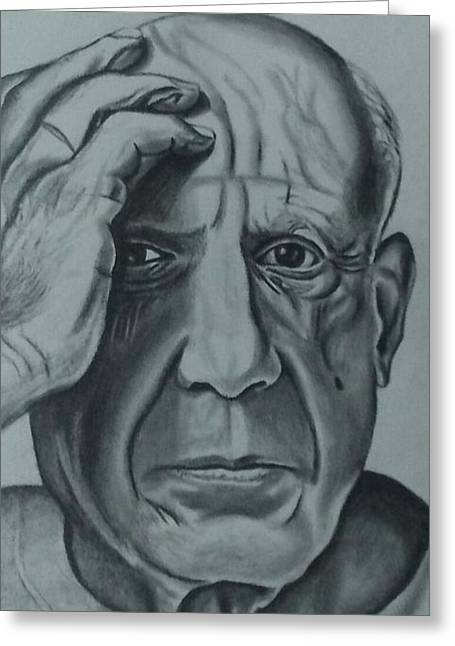Picasso Greeting Card by Ricardo Rodriguez