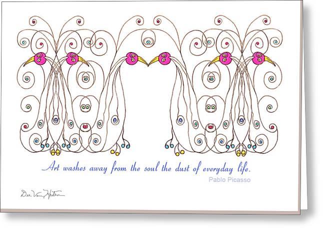 Whimsical Bird Greeting Card