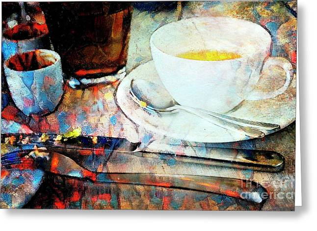 Greeting Card featuring the photograph Picasso's Coffee by Craig J Satterlee