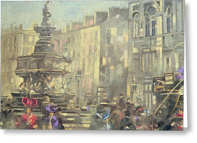 Piccadilly Circus Greeting Card by Peter Miller