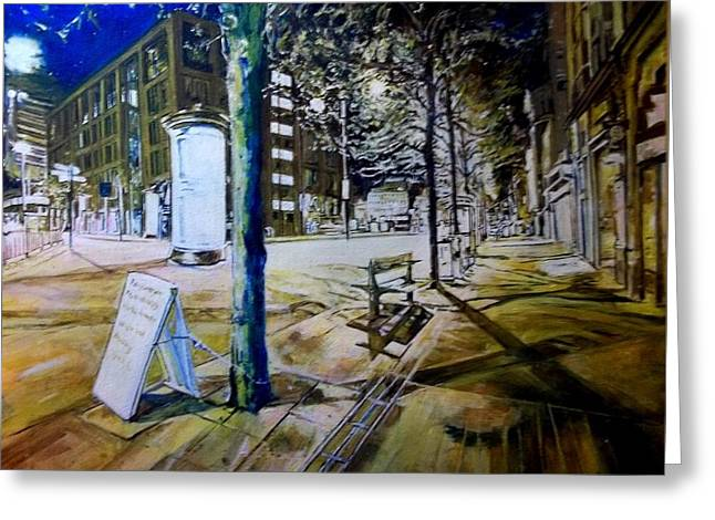 Piccadilly Gardens, Manchester Greeting Card