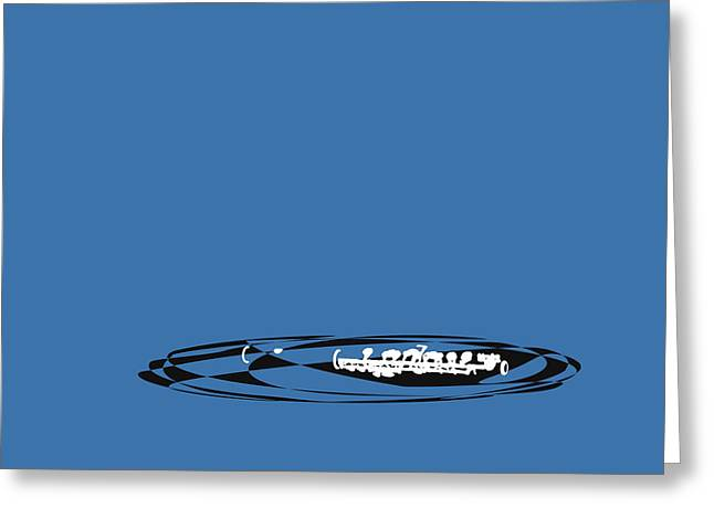 Greeting Card featuring the digital art Piccolo In Blue by Jazz DaBri