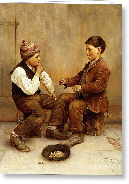 Pick A Hand, 1889 Greeting Card