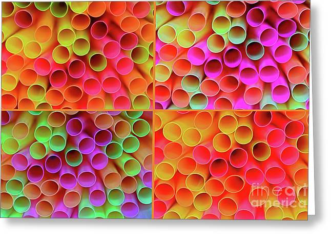 Greeting Card featuring the photograph Pick A Straw By Kaye Menner by Kaye Menner