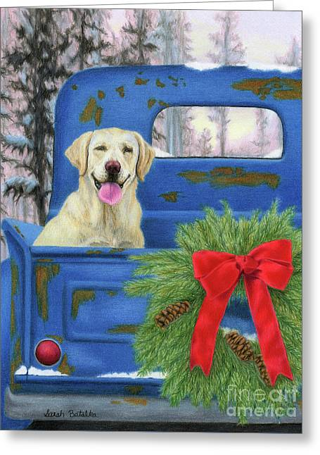 Pick-en Up The Christmas Tree Greeting Card by Sarah Batalka