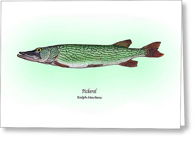 Pickerel Greeting Card by Ralph Martens