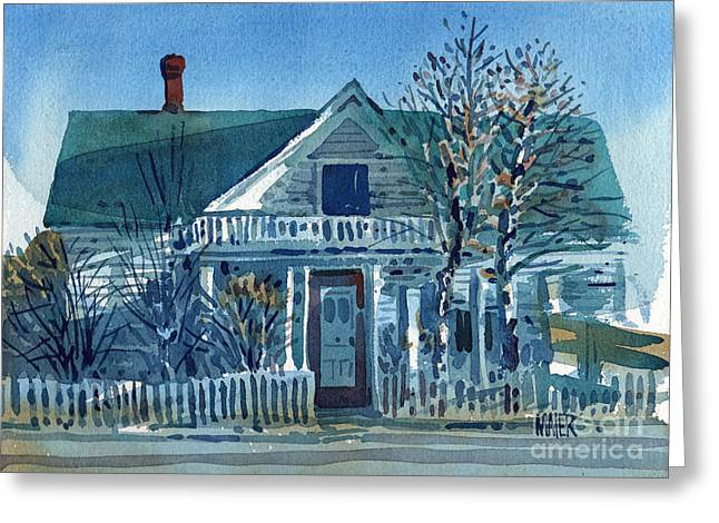Picket Fence Greeting Card by Donald Maier