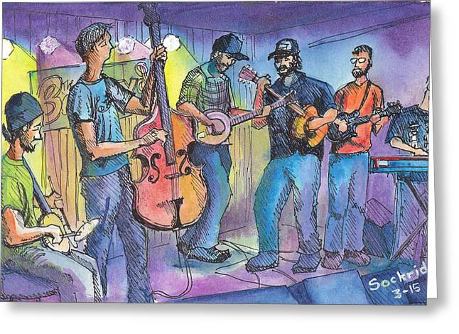 Pickin On Phish At Barkleys Greeting Card