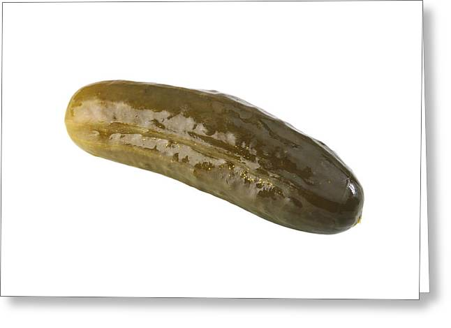 Pickle Greeting Card by Michael Ledray