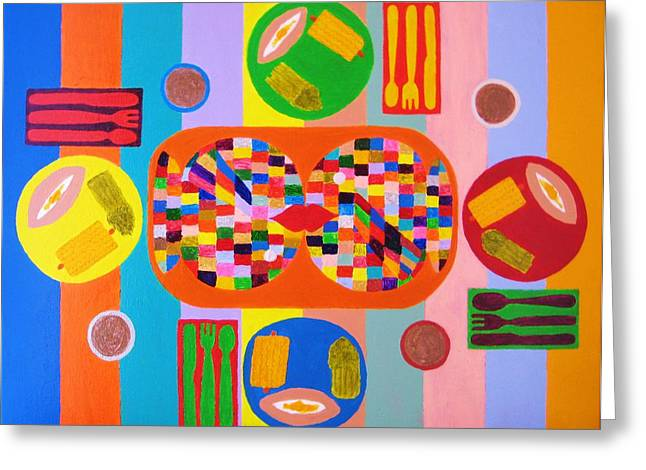Picnic Number One Greeting Card by Ricky Gagnon