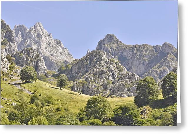 Picos De Europa Mountains Greeting Card