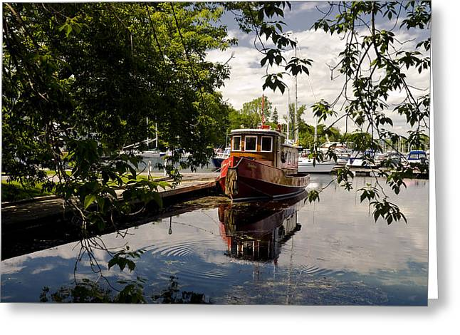 Picton Harbor Ontario Greeting Card by Mark Emmerson